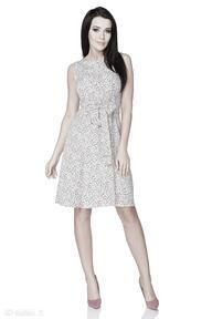 Sukienka 2w1 wiązana na kokardę t233, kwiatuszki - łączka