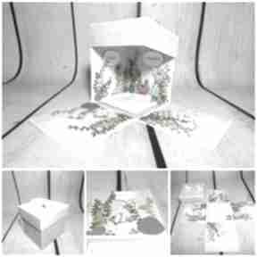 "Exploding box eksplodujące pudełeczko ""akwarium"" scrapbooking"