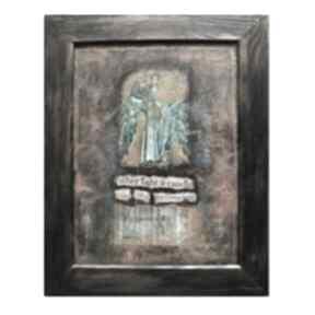 AleksandraB Light, obraz w technice mieszanej, collage, anioł