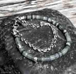 Bransoletka srebrna ze szkłem afgańskim treendy srebro, szkło