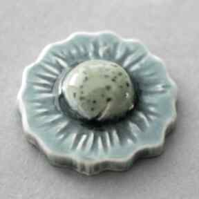 broszki Kwiat-broszka ceramika
