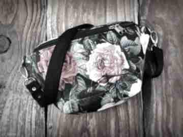 Nerka mini kwiaty zapetlona nitka mała nerka, w-kwiaty, torebka