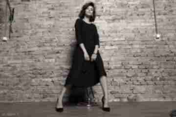 Elegancka sukienka maxi z zamkiem krytym, t327, czarna sukienki