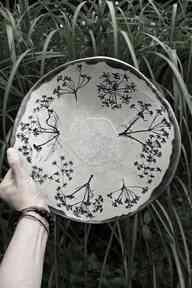 Patera dzika marchew ceramika enio art patera, talerz, misa