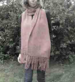 Cynamonowy szal boho szaliki juliannad ciepły szal, styl boho