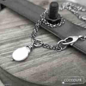 Krótki nowoczesny naszyjnik - srebro i perła keshi naszyjniki