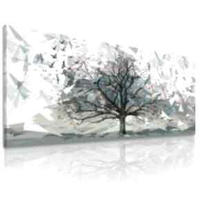 Przepiękny pejzaż do salonu i sypialni - drzewo, ptaki origami