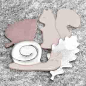 Zestaw magnesów jesiennych magnesy pracownia ako wiewiórka