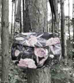 Torebka z klapką - piwonie na ramię torebki niezwykle peonie