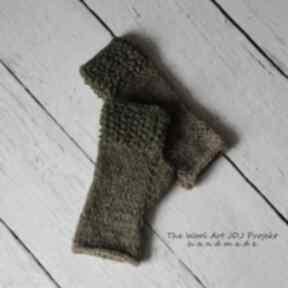 Rękawiczki mitenki the wool art rękawiczki, mitenki, zielone,