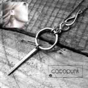 Naszyjnik kółko i zapiecie hak naszyjniki cocopunk długi