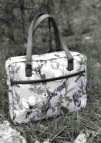Torba miejska - irysy vintage na ramię torebki niezwykle