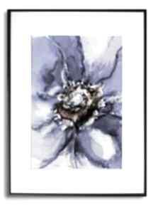 Grafika w ramie z passe-partout akwarela kwiat 30x40 renata