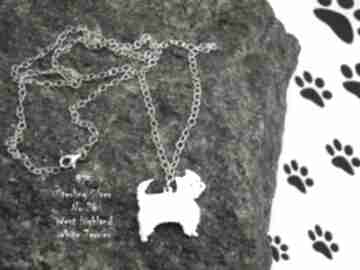 White terrier srebro próby 925 naszyjnik nr 26 naszyjniki