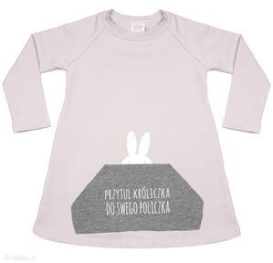 Tunika różowa dla dziewczynki a kuku diverso design tunik,