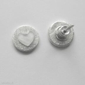 Serduszko kolczyki katarzyna kaminska srebro, swarovski,