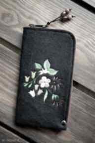 Filcowe etui na telefon - rajskie kwiaty happyart smartfon