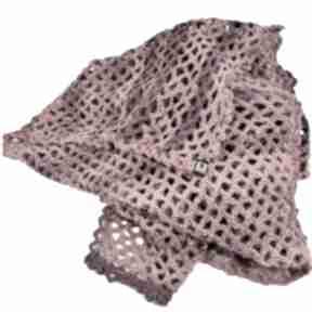 Wielki szal ażurowy w czerwieniach szaliki barska szal, ażurowy
