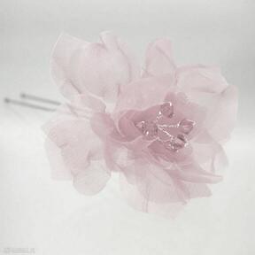 ozdoby do włosów Różowa kokówka 1