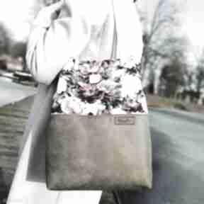 Torebka piwonie i khaki na ramię musslico torba, w-kwiaty