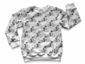 Rowery kremowa całoroczna bluza dziecięca, bawełniana z dresówki