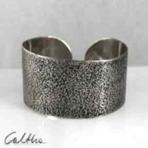 Caltha! bransoletka bransoleta szeroka metalowa złota