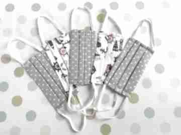Maseczki zestaw dla dzieci 5 sztuk chłopczyk maseczka akukuuu