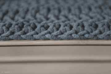 Petrolowe, sznurkowe bliźniaki - dywaniki, chodniki by monica