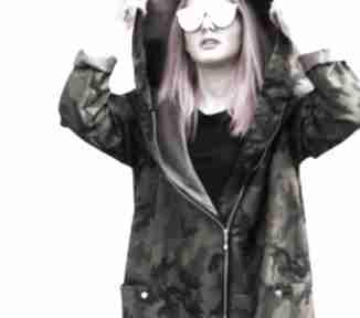 Moro płaszcz oversize ogromny kaptur na zimę rozmiar xs zima