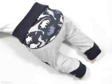 Dinozaury legginsy spodnie baggy pumpy dla chłopca, niemowląt