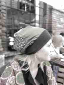 Czapka patchworkowa bardzo długa letnia czapki ruda klara czapka