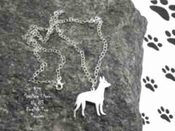 Angielski toy terrier srebro próby 925 naszyjnik nr 83