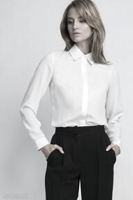 Koszula, k101 ecru bluzki lanti urban fashion bluzka, krepa