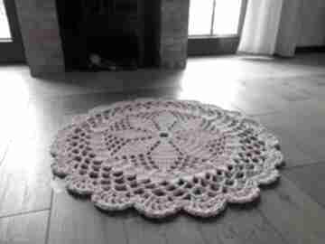 Dywan dace, 100 cm, różowy artedania szydełkowy, ze sznurka