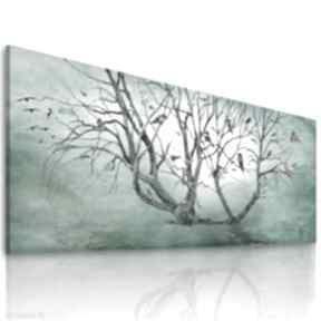 Elegancki obraz z motywem drzewa wydrukowanym na płótnie