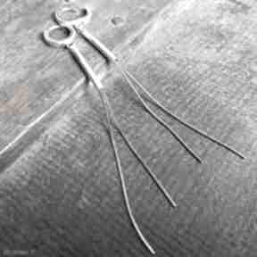 Długie kolczyki srebrne, żmijki treendy długie, wiszące