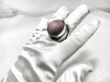 Unikatowy srebrny 925 pierścionek z koralowcem rękodzieło monika