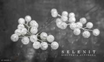 Kryształowe kokówki ozdoby do włosów selenit kryształ, kokówka,