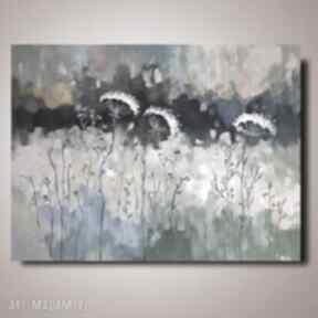 Abstrakcyjna łąka -obraz akrylowy formatu 50 40 cm paulina