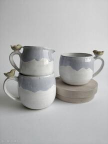 Zestaw dwóch kubków z dzbanuszkiem ceramika kate maciukajc kubek