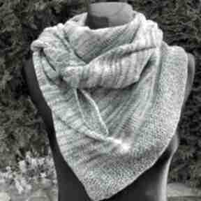 Chusta asymetryczna z bawełną odcienie zieleni chustki i apaszki