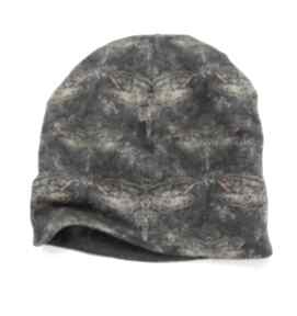 Melat28 designerska czapka jesienna, ważki czapki mela art