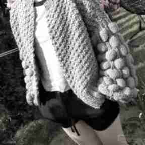 Grey bomber swetry wooliscool boho, folk, stylbohofolk, prezent
