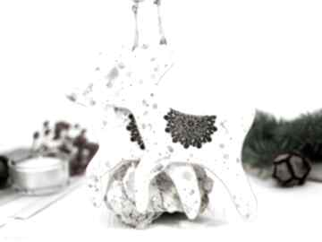 Upominek. 1 ręcznie malowany ceramiczny renifer dekoracje