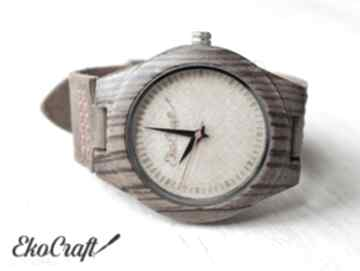 Damski drewniany zegarek cuckoo zegarki ekocraft zegarek