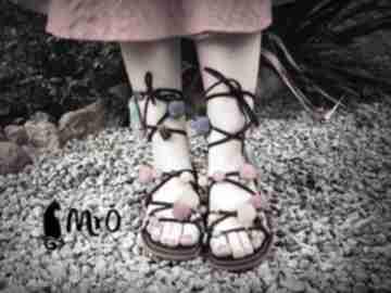 Mega kolorowe rzymianki z wężami soutache buty mrosoutache