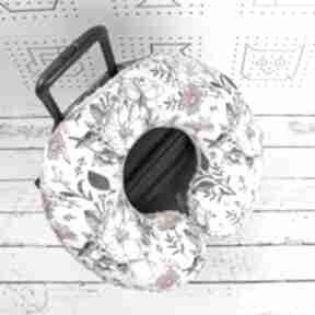 Poduszka podróżna kwiaty vintage garden szare dla dziecka