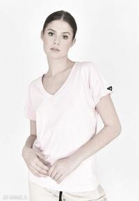 T-shirt v-neck różowa landrynka koszulki trzyforu koszulka