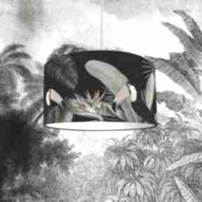 Abażur do lampy czarny tukany lampidarium abażur, tropikalny