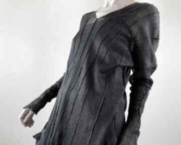 Elegancka lniana tunika bluzki anna damzyn bluzka, tunika